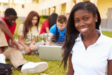 ストックフォト: 健康 · 一緒に · 学生 · 友達