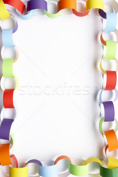 Border made from paper chains Stock photo © monkey_business
