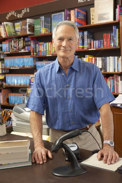 Mannelijke boekenwinkel eigenaar boek man winkel Stockfoto © monkey_business