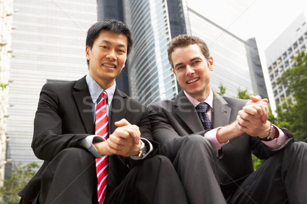 Portrait Of Two Businessmen Outside Office Stock photo © monkey_business