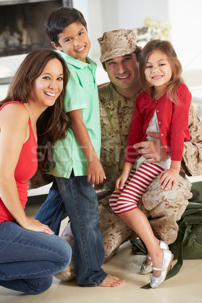 Family Greeting Military Father Home On Leave Stock photo © monkey_business