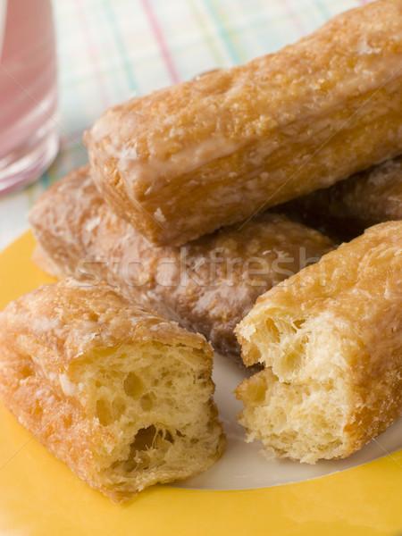 Tablicy yum truskawki żywności deser kolor Zdjęcia stock © monkey_business