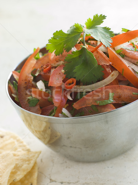 Dish of Tomato Red Onion and Coriander Relish Stock photo © monkey_business