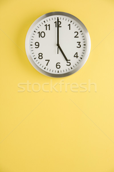 Office Clock Displaying 5 O'clock Stock photo © monkey_business