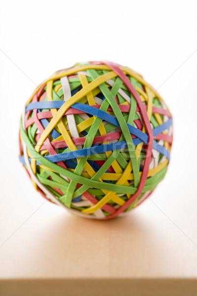 Elastiekje bal vergadering bureau kleur bol Stockfoto © monkey_business