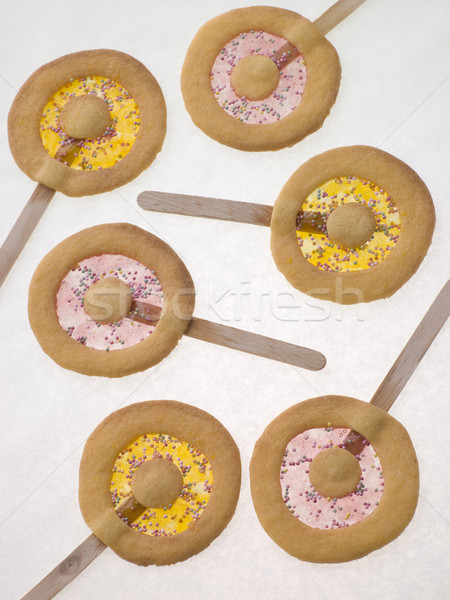 Candy and Shortbread Biscuit Lollipops Stock photo © monkey_business