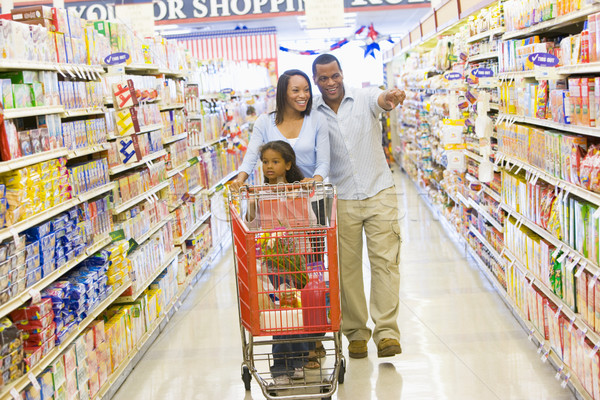 Young family grocery shopping Stock photo © monkey_business