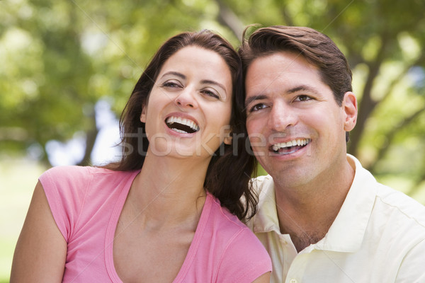 Couple outdoors smiling Stock photo © monkey_business