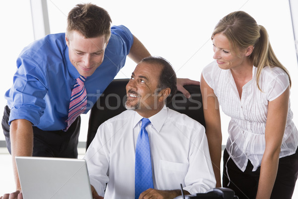 Group of business people working in office Stock photo © monkey_business