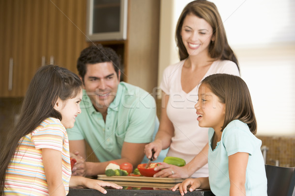 Family Preparing meal,mealtime Together Stock photo © monkey_business