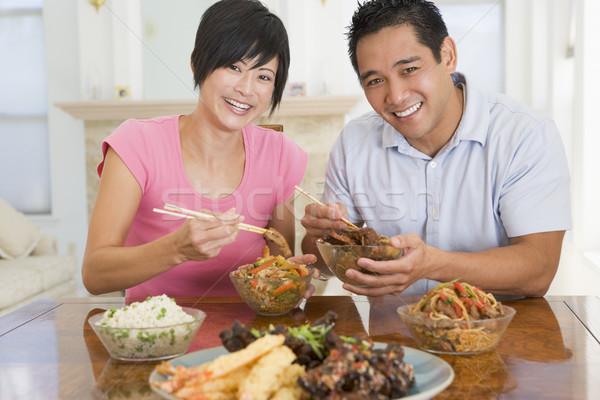 中国食品 男 色 食べ ストックフォト © monkey_business