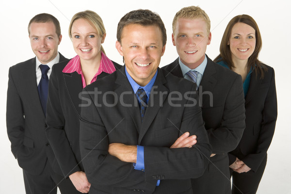 Stock photo: Team Of Business People Smiling