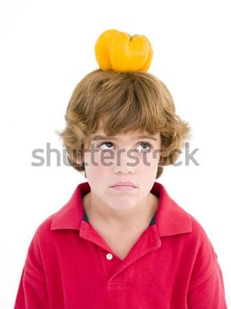 красный перец голову продовольствие ребенка Сток-фото © monkey_business