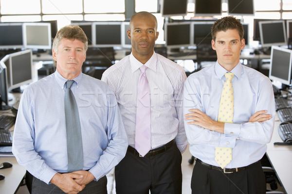 Squadra stock computer gruppo lavoro finanziare Foto d'archivio © monkey_business