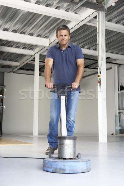 Cleaner polishing office floor Stock photo © monkey_business