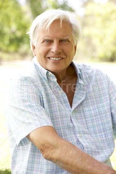 Stock photo: Portrait Of Senior Man In Park