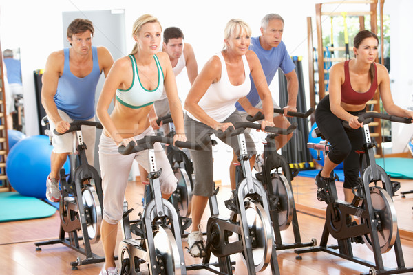 Group Of People In Spinning Class In Gym Stock photo © monkey_business