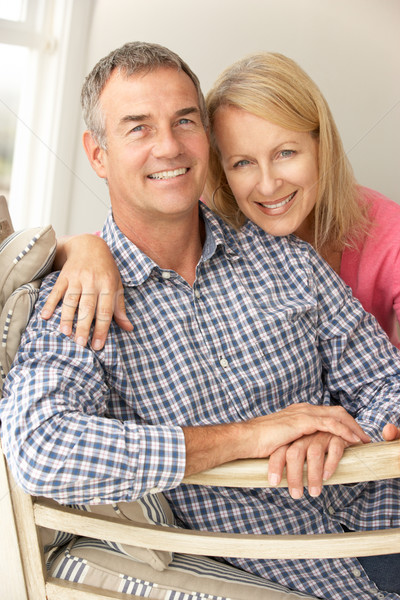 Mid age couple at home Stock photo © monkey_business