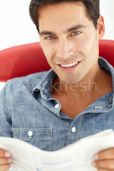 Young man reading Stock photo © monkey_business