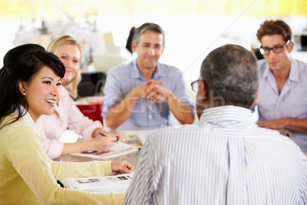 チーム 会議 創造 オフィス ビジネス 女性 ストックフォト © monkey_business