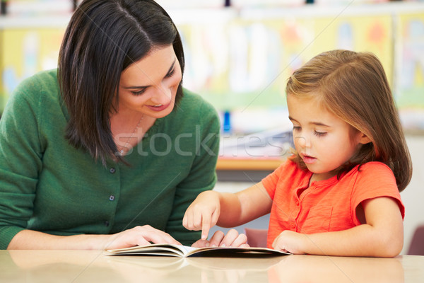 Elementary Pupil Reading With Teacher In Classroom Stock photo © monkey_business