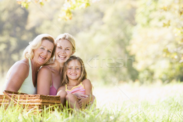 Grandmother with adult daughter and grandchild on picnic Stock photo © monkey_business
