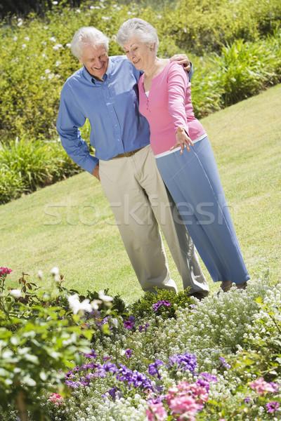 Senior couple standing in garden Stock photo © monkey_business