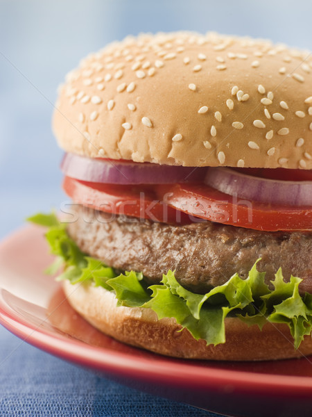 Beef Burger in a Sesame Seed Bun Stock photo © monkey_business