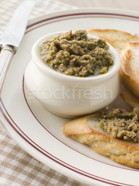 Verde oliva tostato coltello picnic Foto d'archivio © monkey_business