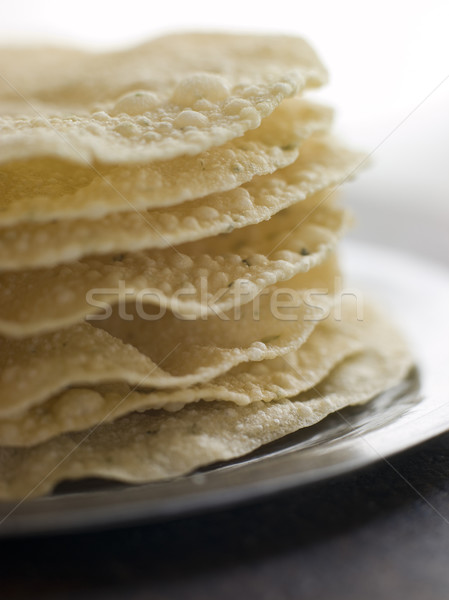 Stack of cooked Papadoms Stock photo © monkey_business
