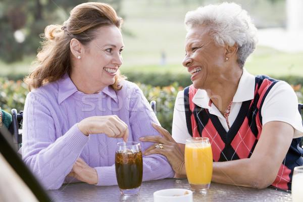 Сток-фото: два · женщины · друзей · напиток · гольф