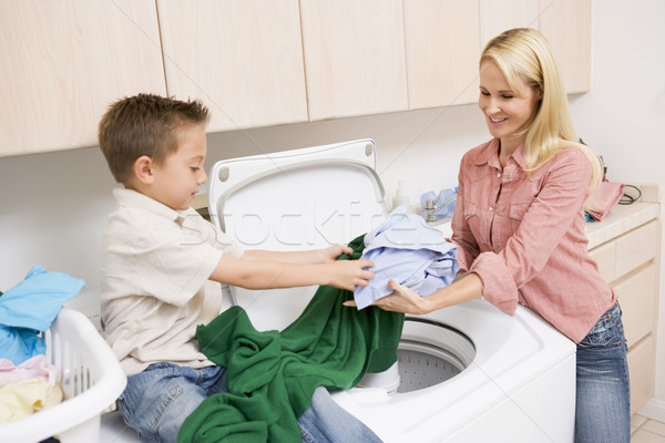 Mother And Son Doing Laundry  Stock photo © monkey_business