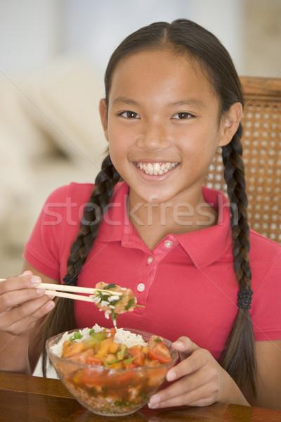 Lány étel gyerekek gyermek portré eszik Stock fotó © monkey_business