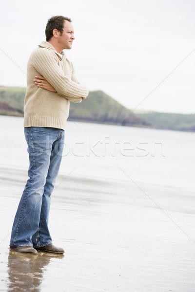 Man standing on beach Stock photo © monkey_business