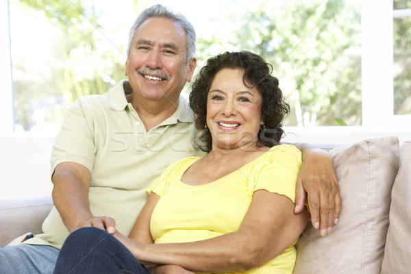 Stock photo: Senior Couple Relaxing At Home Together