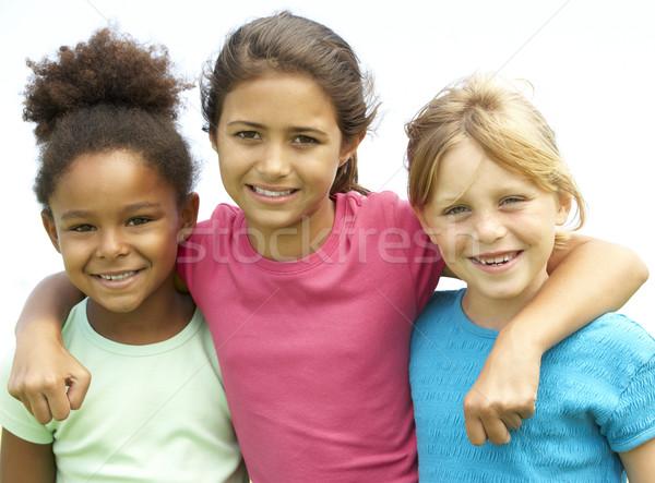 ストックフォト: 小さな · 女の子 · 演奏 · 公園 · 子供 · 幸せ