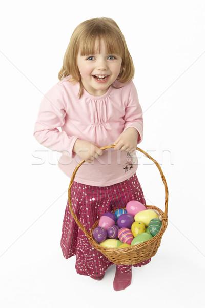 Giovane ragazza basket easter eggs Pasqua ragazza Foto d'archivio © monkey_business