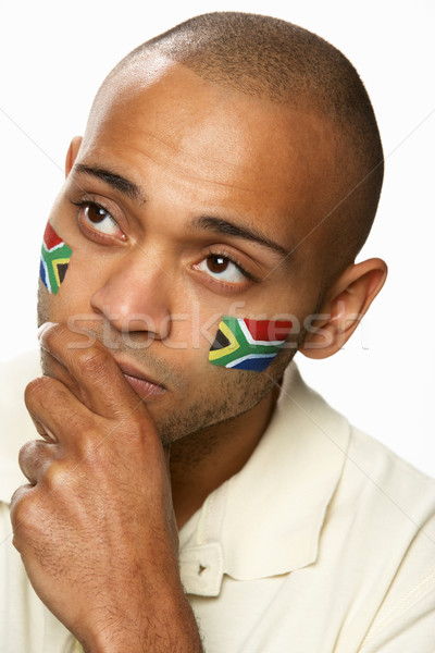 Disappointed Young Male Sports Fan With South African Flag Paint Stock photo © monkey_business