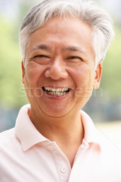 Hoofd schouders portret senior chinese man Stockfoto © monkey_business