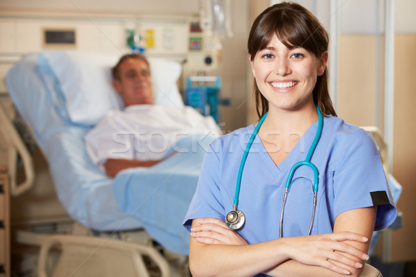 Portrait Of Nurse With Patient In Background Stock photo © monkey_business