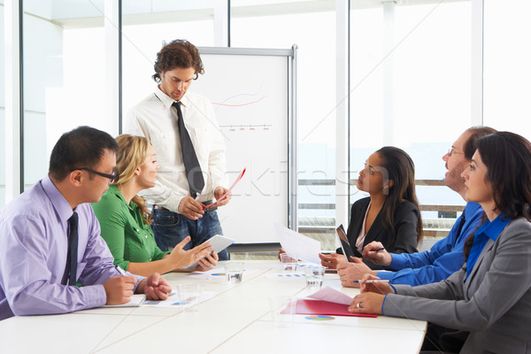 Geschäftsmann Sitzung Sitzungssaal Business Frau Frauen Stock foto © monkey_business