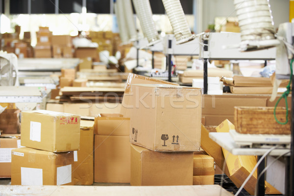 пусто интерьер распределение склад компьютер окна Сток-фото © monkey_business
