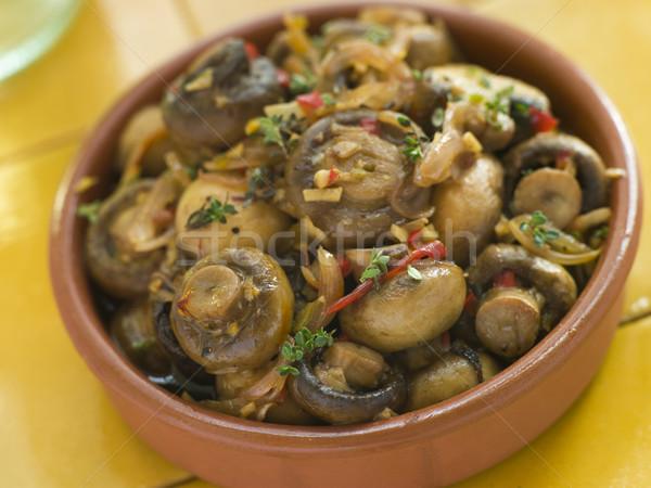Aglio peperoncino marinato funghi cucina bar Foto d'archivio © monkey_business