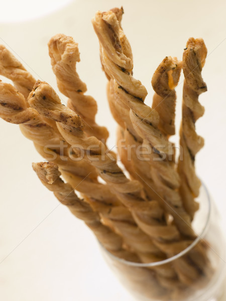 Cheese Straws in a Glass Stock photo © monkey_business