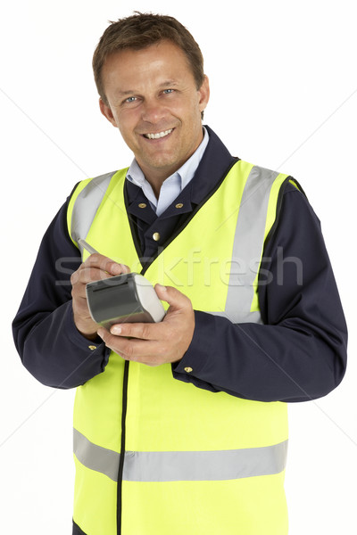 Courier Writing On An Electronic Clipboard, Smiling At The Camer Stock photo © monkey_business