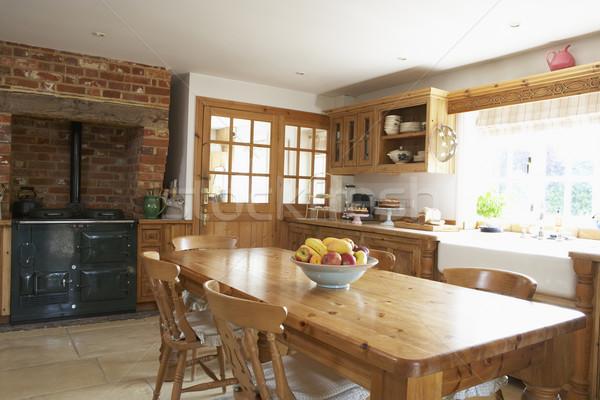 Сток-фото: интерьер · интерьер · кухни · домой · кухне · таблице · раковина