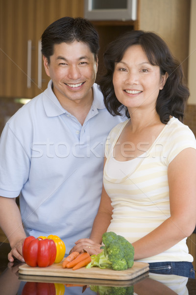 Husband And Wife Preparing meal,mealtime Together Stock photo © monkey_business