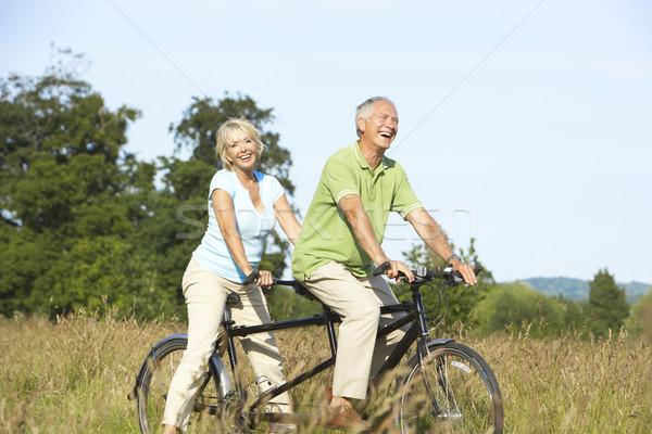 зрелый пару верховая езда тандем женщину человека Сток-фото © monkey_business