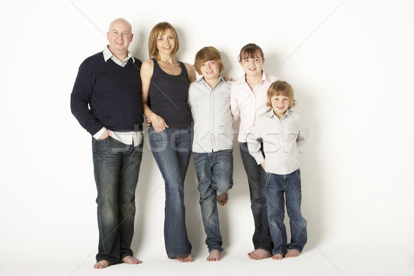 Studio Shot Of Family Group Standing In Studio Stock photo © monkey_business