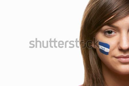 Jovem feminino esportes ventilador Honduras bandeira Foto stock © monkey_business